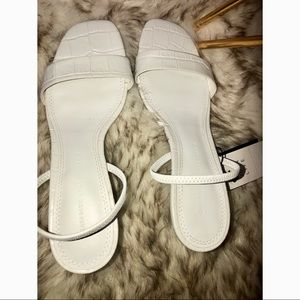 Brand new with tags Zara White Sandal Heels